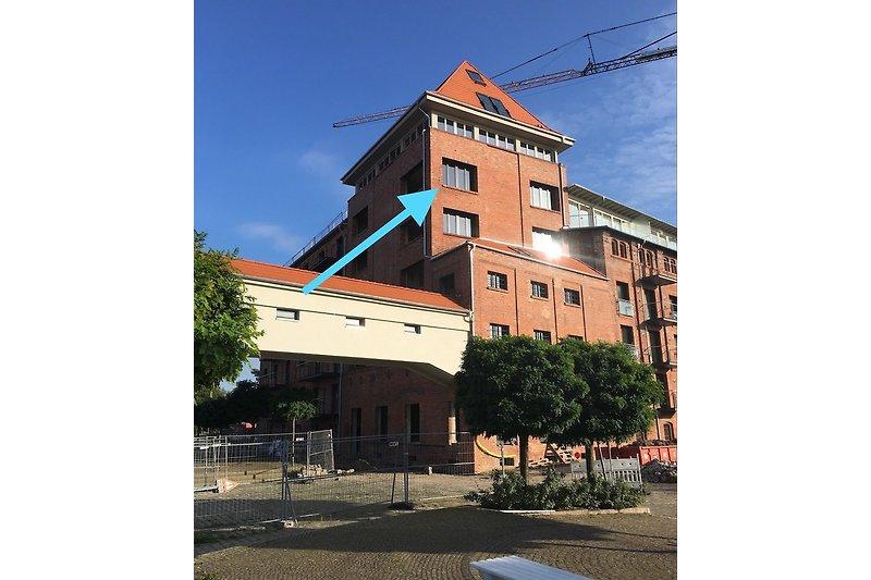 Lage der Wohnung im Turm