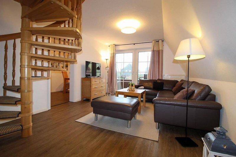 Landhaus Rosenhof 4 - Wohnzimmer - Cuxland-Fewo-Service