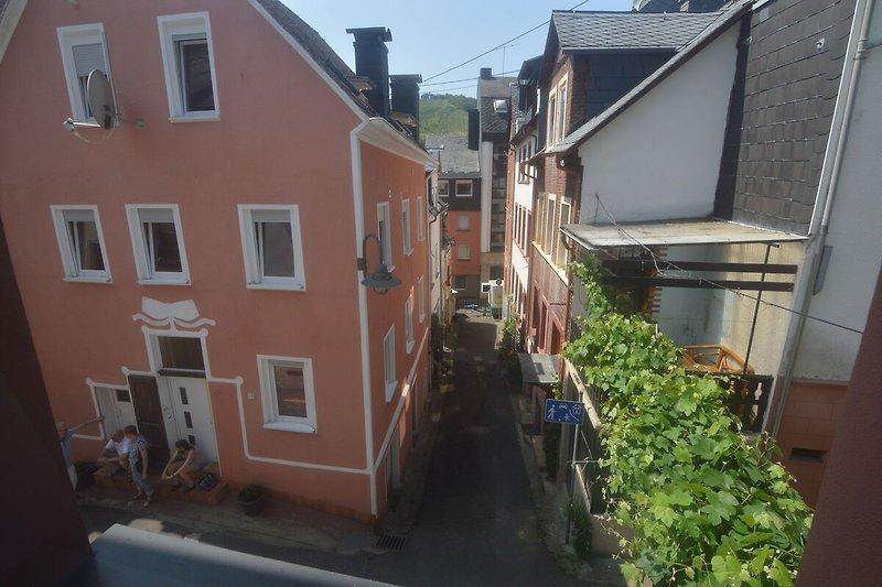 Aussicht vom Ferienhaus (Sommer)