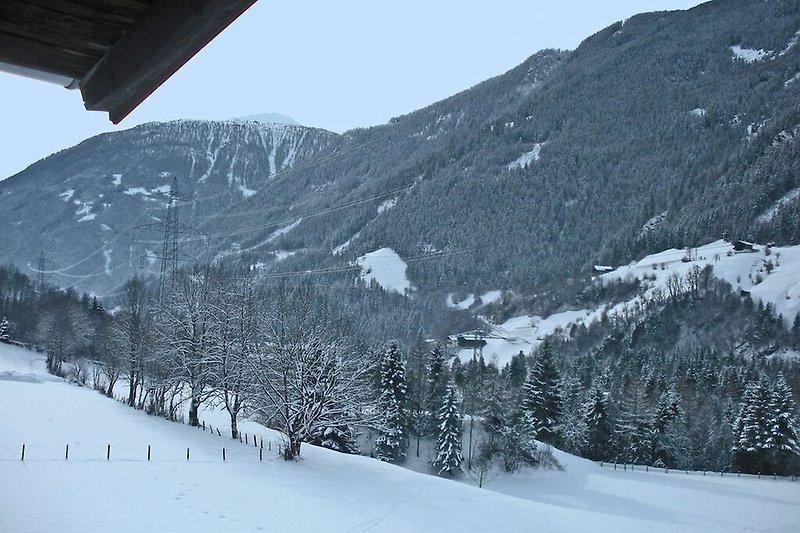 Aussicht vom Ferienhaus (Winter)