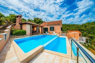 Geräumige Villa in Mali Iž mit Pool