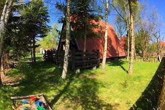 Otoczony lasem dom w nadmorskiej wiosce, salo...