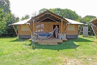 Gemütliche Zelthütte mit Veranda, nahe der Ve...
