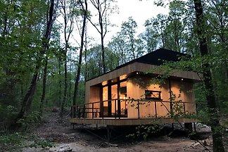 Moderne Eco-Lodge mit Geschirrspüler, umgeben...