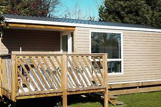 Wygodne mobile home z drewna ganku w...