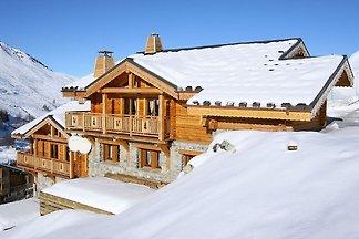 Authentisches Chalet mit Kamin, 500 m vom Ski...