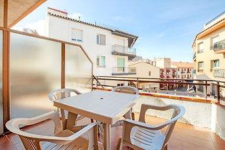 Schöne Ferienwohnung mit Balkon in Palamós