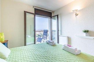Wohnung im 4. Stock mit Aufzug, Meer- und...