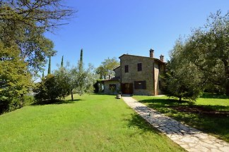 Detached house with private pool in green sur...
