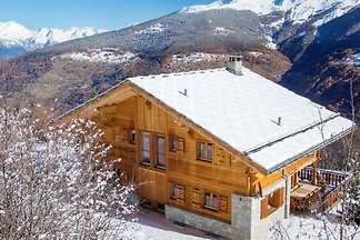 Mountain Chalet in Les Collons with Wellness...