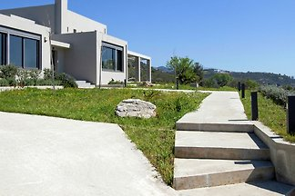 Modern Villa in Nea Agchialos with Garden and...