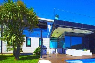 Panoramablick auf das Meer: Villa in Sanxenxo...