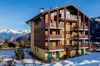 Appartement douillet avec balcon à La Tzoumaz