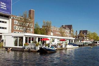 Moderne Hausboot-Ferienwohnung mit Terrasse i...