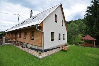Gemütliches Ferienhaus in Liberec mit Sauna
