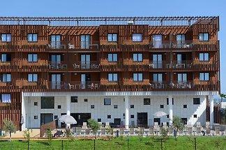 Moderne Ferienwohnung mit Balkon, 600 m vom S...