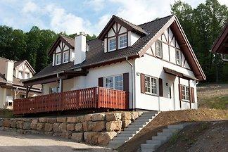 Luxuriöse Villa mit Kamin bei einem Stausee i...