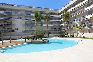 Apartment complex with communal pool in Santa...