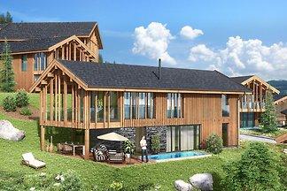 Luxus-Chalet mit Swimmingpool und Sauna, Skil...