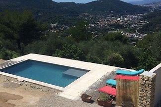 Ferienhaus in Drap, eigenem Pool,15 km von Ni...