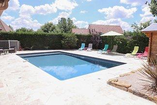 Gemütliche Villa in Saint-Martin-le-Redon mit...