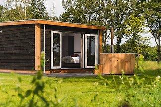 Wellness-Chalet mit Sauna auf dem Sallandse...