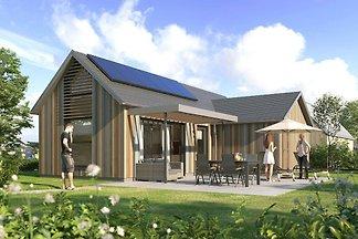 Moderne Lodge mit IR-Sauna, 500m vom Strand