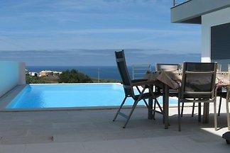 Quiet, modern villa with full ocean view