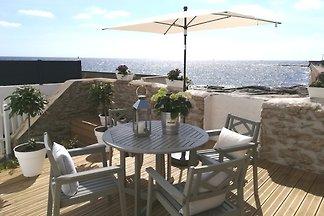 4* Hafenhaus mit Terrasse am Strand