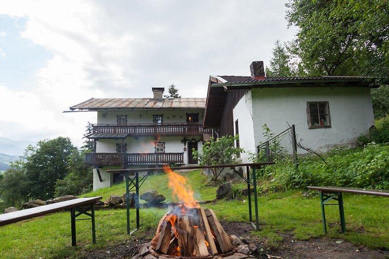 Almhütte Katharina with fireplace