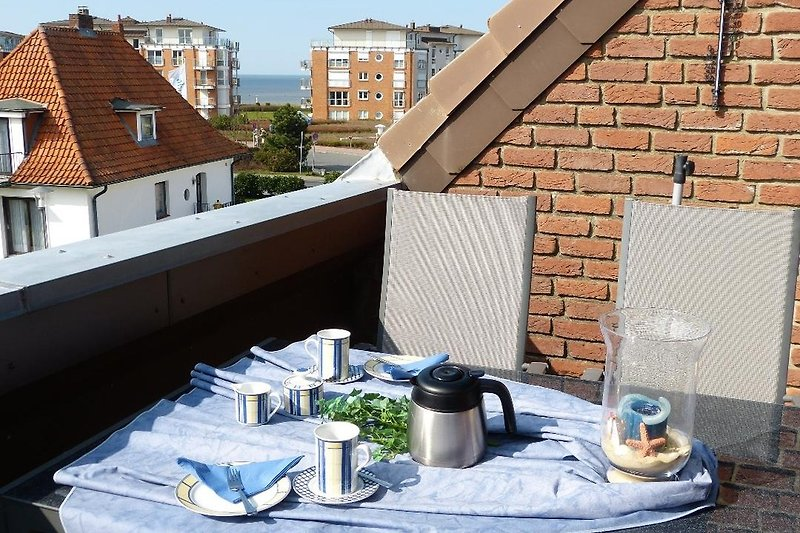 Dachterrasse mit Teilseesicht