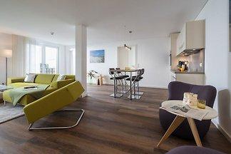 Luxus-Ferienwohnung mit zwei Schlafzimmern und Balkonen in direkter Lage am Kurplatz. Ihre Wohnung verfügt über 76qm. - 109,- bis 199,- € / Nacht