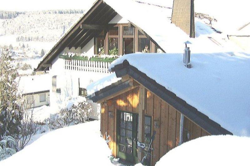 Haus Sonnenhügel im Winter