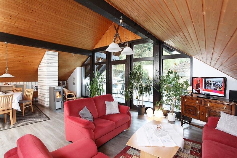 Wohnstudio mit Sitzecke