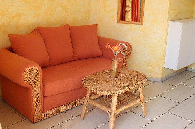 gemütliche Sitzecke, Miniküche