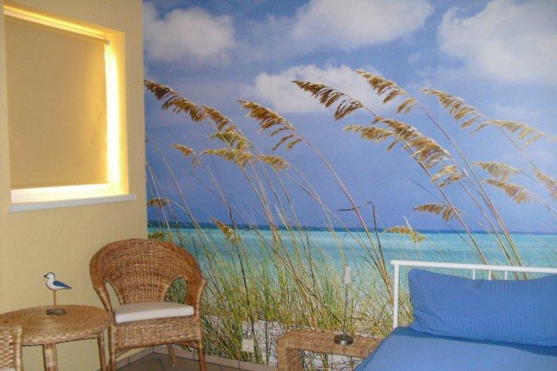 1.Schlafzimmer im EG mit bequemen Hotelbetten (neu) als Einzel- oder Doppelbett