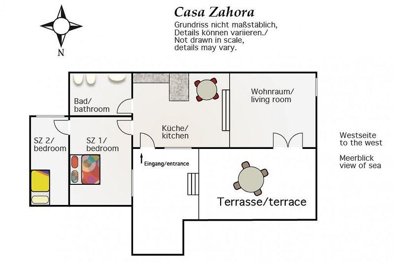 Grundriss Casa Zahora