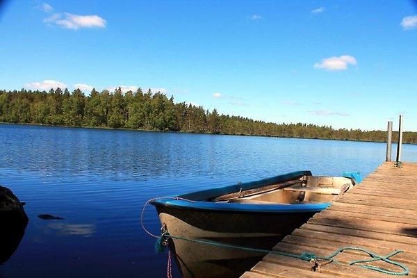 Der Langen See ist nur 50m vom Ferienhaus entfernt
