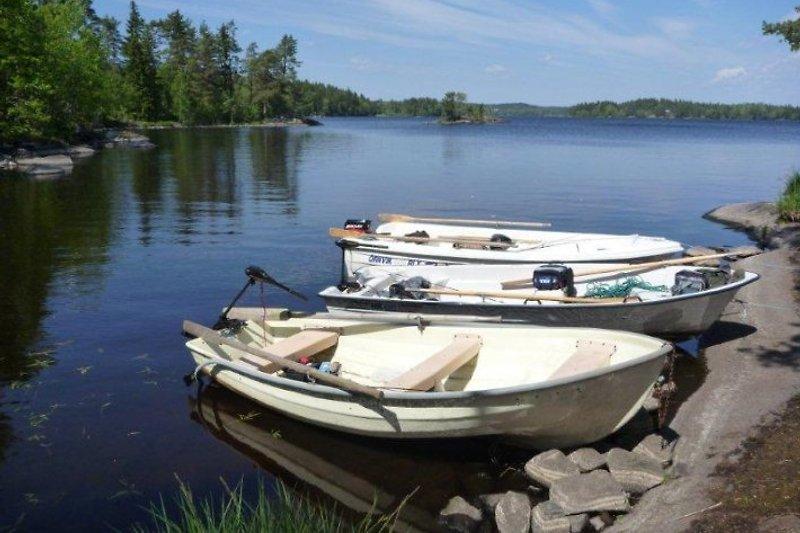 Unsere Boote während einer Angeltour auf dem Stora Nätaren.