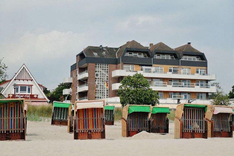 Haus Strandperle gegenüber vom Strand