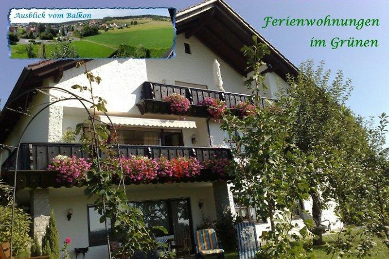 FeWo Apfel mit Terrasse und Garten vor Blicken geschützt