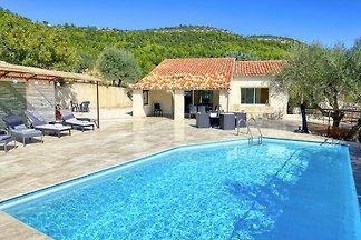 Maison de vacances avec piscine et vue panoramique sur la