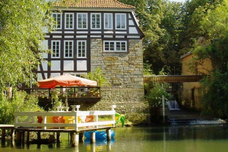Mühle mit Insel