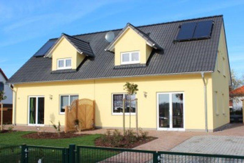 Doppelhaus Terrassenansicht