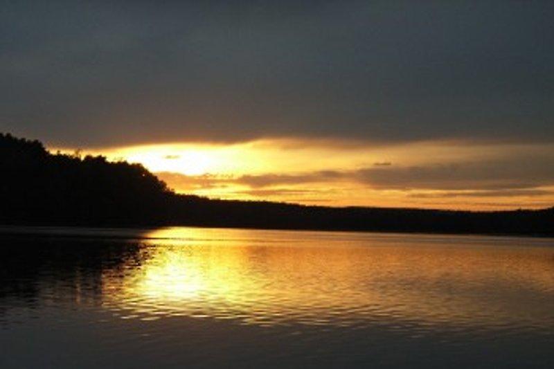 Sonnenuntergang am Klenzsee