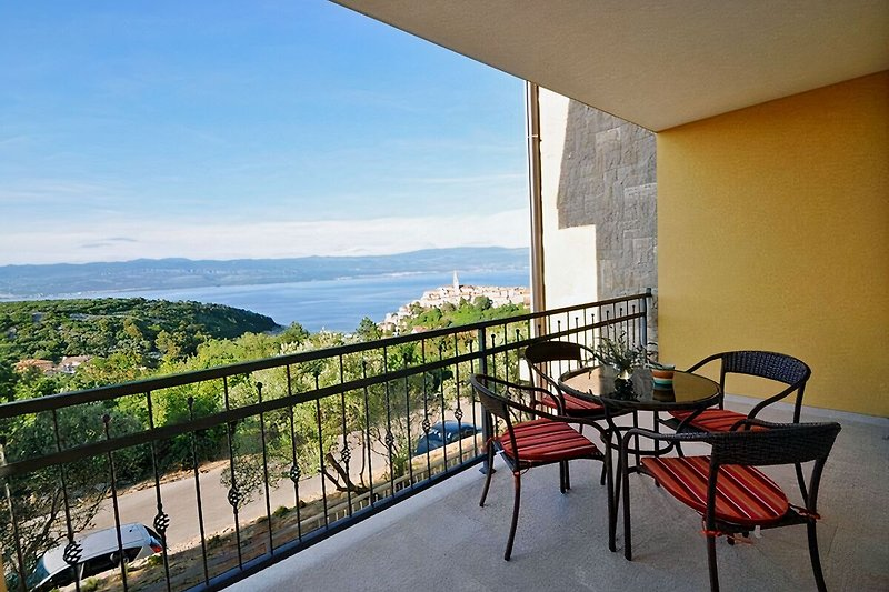 Balcony with amazing sea view - apartment Mirna 1
