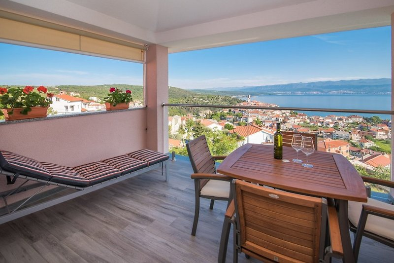 Apartment Una in Vrbnik on island of Krk