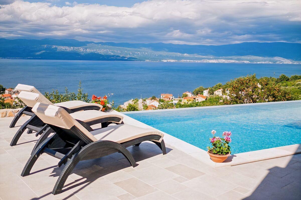 Traum schlafzimmer mit pool  Sascha mit Pool und Traum-Meerblick - Ferienwohnung in Vrbnik mieten