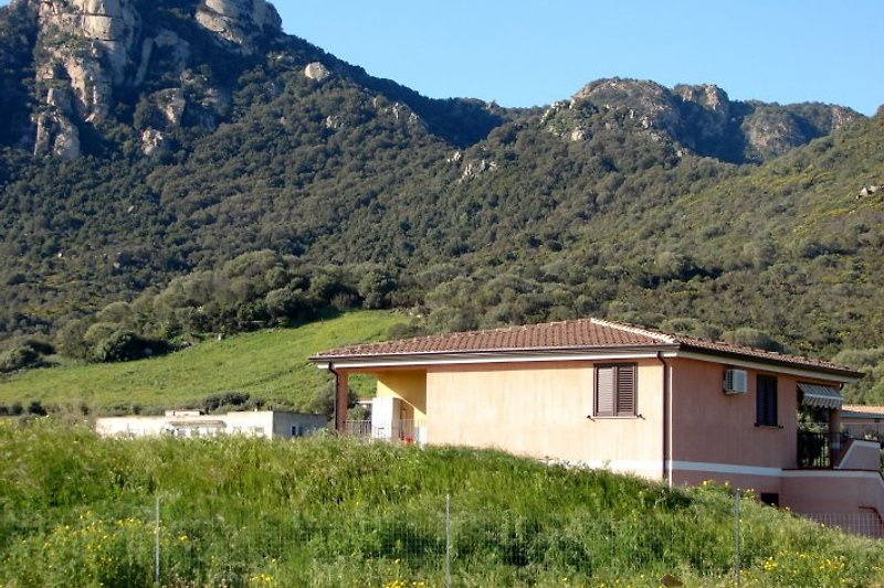 Our house with in the background Monte Ferru.