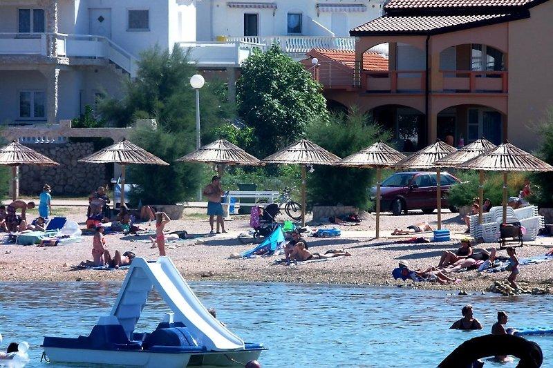 Strand direkt vom Haus